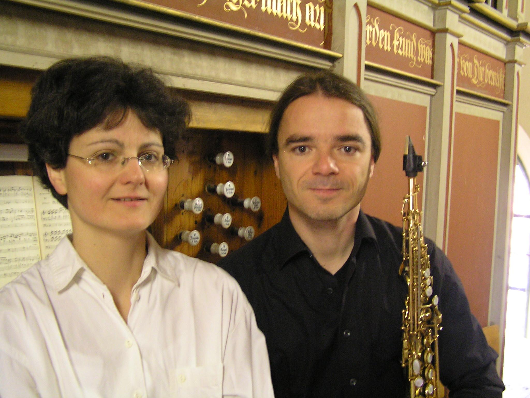 Saxofon Orgel Duo Clemens Hoffmann Thekla Schönfeld